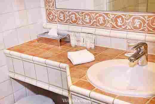 Badezimmer im Appartement im Landhaus Im Hotel Allgäu Sonne in Oberstaufen
